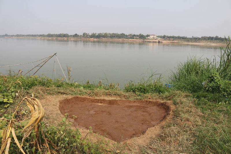 Day Farm Life Landscape Mae Kong River Nature Nature No People Outdoors Sand Sky Thai-laos Water Heath Love ♥ Sign
