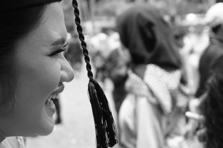 Smile Laughing Happiness Indonesia_photography Bnw Bnwphotography Bnw_life Blackandwhite Sony A6000 Monochrome EyeEm Best Shots EyeEmNewHere EyeEmBestPics EyeEm Best Shots - Nature Gsl_ Natural Beauty Graduation Headshot Portrait Friendship Girls Close-up Blooming This Is Natural Beauty A New Perspective On Life Human Connection Moments Of Happiness It's About The Journey My Best Photo