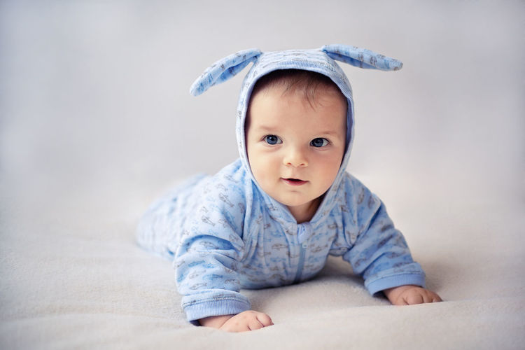 Close-up portrait of baby boy