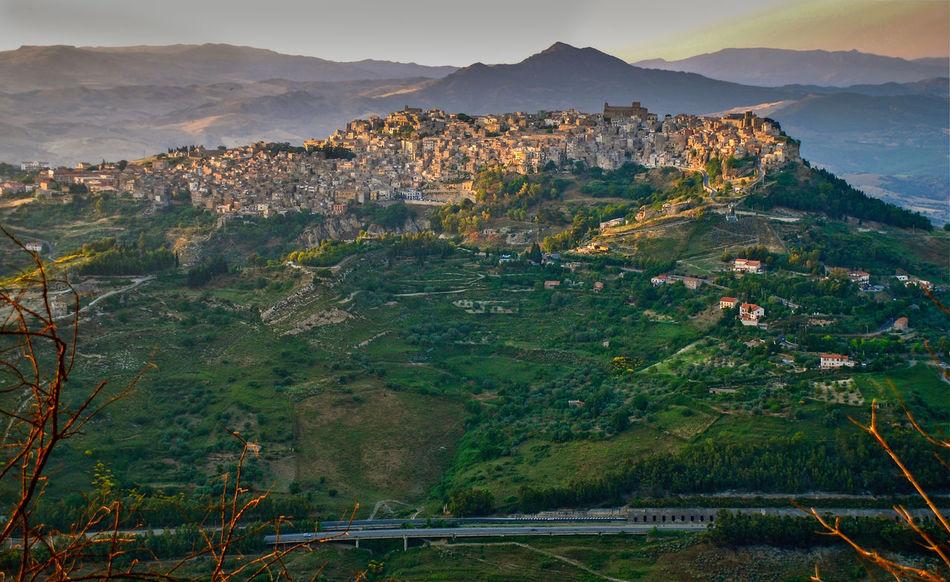 Enna Villag Sicily Italy Landscape Mountain Mountain Range Mountain Village No People Scenics Sky Tranquility