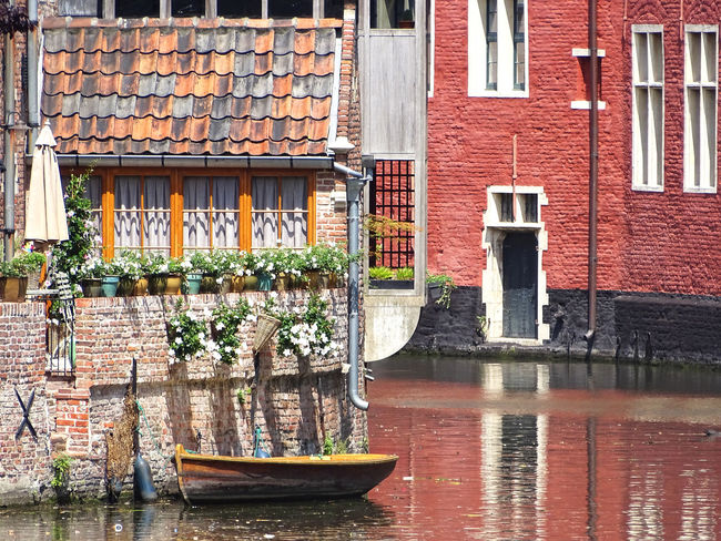 Architecture Belgium Boat Brick Wall Building Exterior Built Structure Day Gent Ghent Nature No People Outdoors Water Waterfront Window