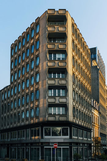 Building Exterior Built Structure Architecture Building Low Angle View City Window No People Sky Day Residential District Outdoors Glass - Material Nature Office Building Exterior Office Modern Tall - High Repetition In A Row Apartment Luxembourg