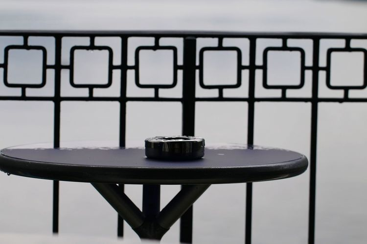 Close-up of empty seats on table