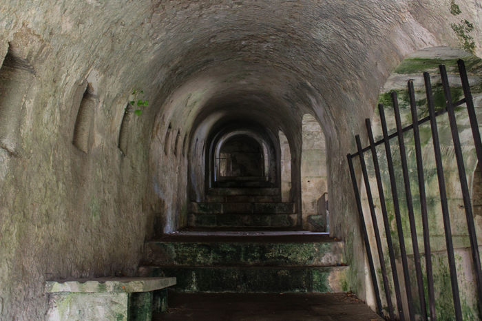 Galicia Calidade Galicia, Spain Travel Arch Architecture Built Structure Dark Corridor Day History Indoors  Narrow Corridor Narrow Stairs No People Old Prison Old Ruin Prison Travel Destinations