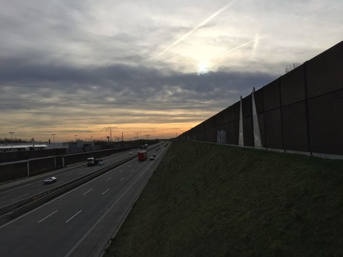 Autobahn Transportation Road Architecture Built Structure The Way Forward Sky Sunset