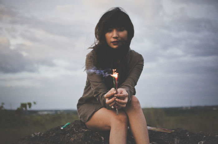 Year-ender Gettyimage Sparklers Photography Portrait Outdoors Portrait Of A Woman First Eyeem Photo Vogueitalia Conceptual Photography  Portrait Photography Voguemagazine Getty+EyeEm Collection Portraits Of EyeEm Portraitmood✪