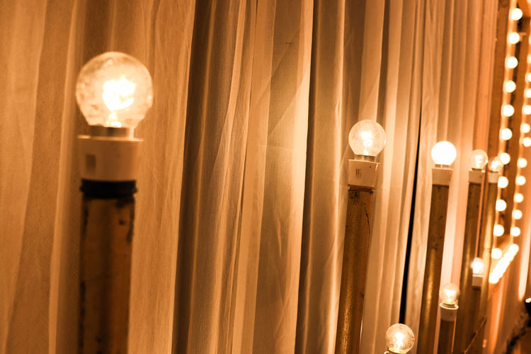 lights on Ambient Light Ambient Bright Yellow Color Yellow Gallery Fine Art Event Wedding Decoration Decor Decoration Light Stand Curtain Illuminated Filament Light Bulb Electricity  Luxury Hanging Curtain Gold Colored Lighting Equipment Electric Light Bulb Electric Bulb Electric Lamp Pendant Light EyeEmNewHere