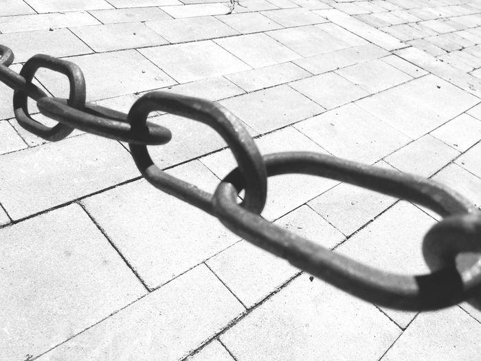 High Angle View Metal Shadow No People Day Footpath Street