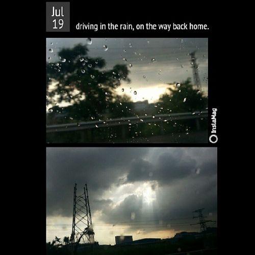 提前一天回家了 highway上跑 感受过好多次局部地区性骤雨 Tookthispicincar Afterrainin Nix