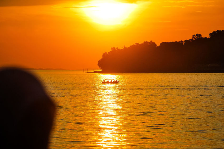 Sunset Sea Orange Color Silhouette Gold Colored Vacations Scenics Travel Destinations Landscape Tourism Sea Life Boats⛵️ Ship EyeEmNewHere Sailing Ship Eyeem Select EyeEm Best Edits Decorative Ship Stockphoto Sailing Boat PenyengatIsland Beauty In Nature Sailing Travel EyeEm Selects