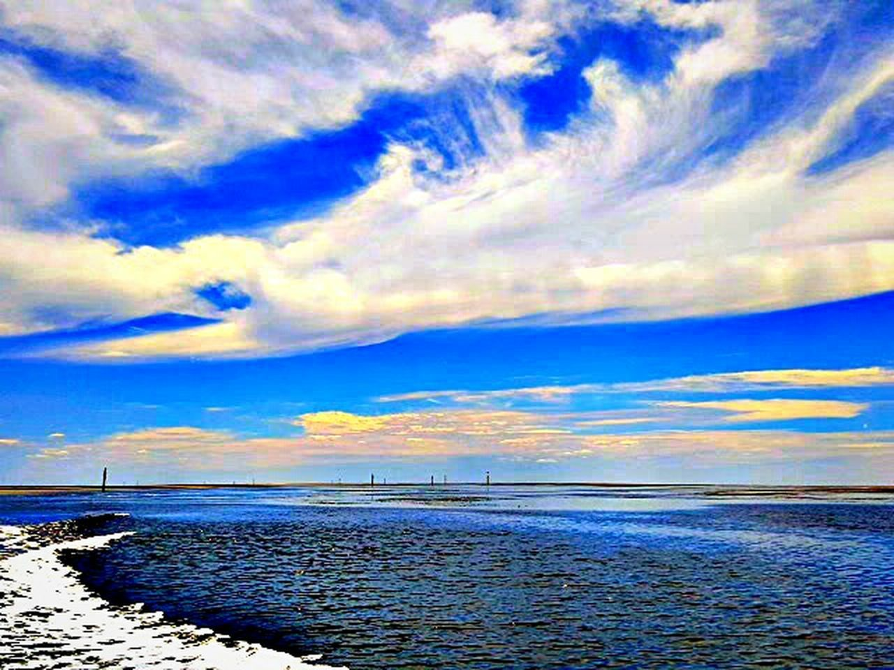 sea, cloud - sky, scenics, horizon over water, water, sky, tranquility, tranquil scene, beach, beauty in nature, nature, outdoors, blue, no people, sunset, travel destinations, horizon, day