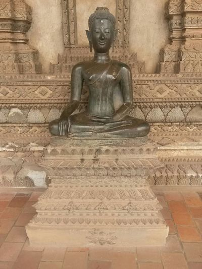 Buddha South East Asia Ancient Civilization Architecture Art And Craft Belief Building Built Structure Creativity History Human Representation Idol Laos Male Likeness No People Place Of Worship Religion Representation Sculpture Spirituality Statue The Past