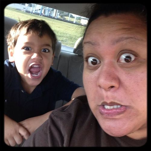Going To School Being Silly Funny Faces