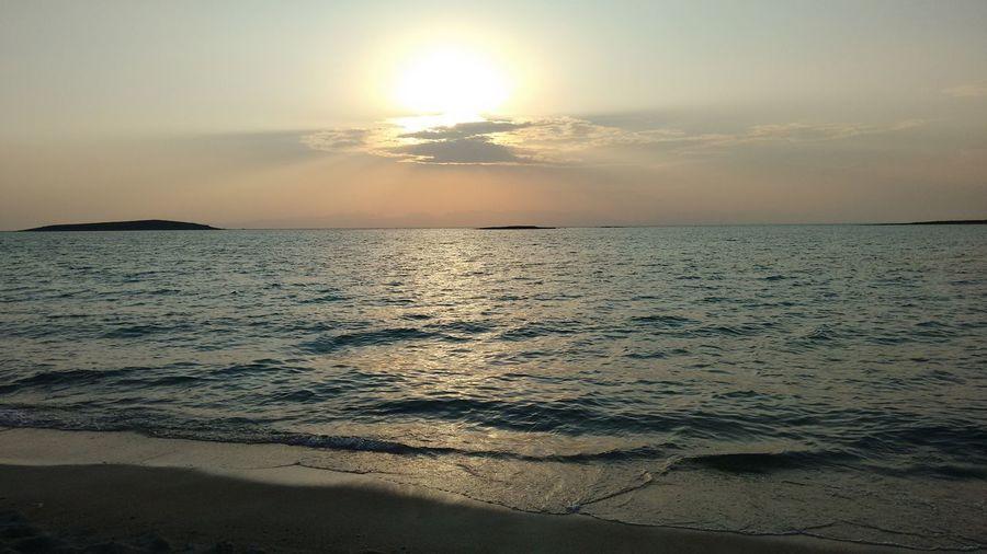 Dramatic Lefki beach Inner Power EyeEm Nature Lover Discover  Seaside Sky No People EyeEmNewHere Nofilter No Filter Dusk Blackberry Q10 Sea Sunset Beach Landscape Sun Sky Sand Tranquility Dramatic Sky Scenics Seascape Surf