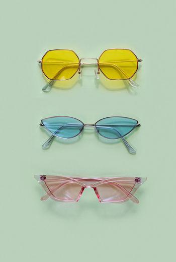 Close-up of eyeglasses on sunglasses