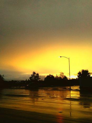 After The Rain Slippery Roads Road Rainy Sky