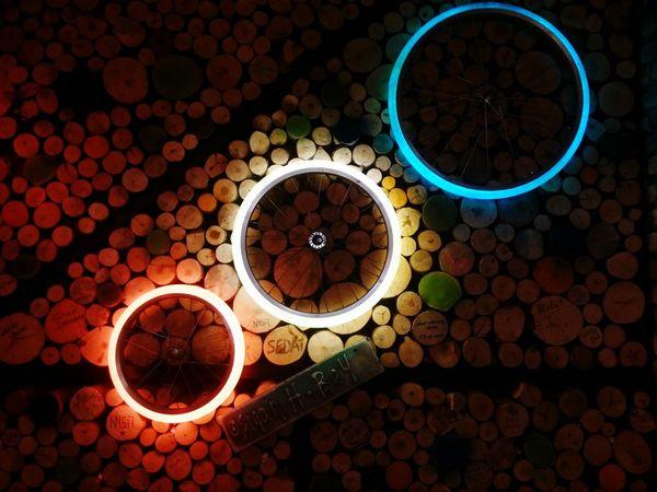 Circle No People Night Outdoors Close-up