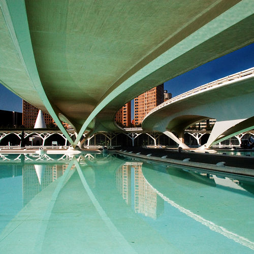 Modern bridge in city
