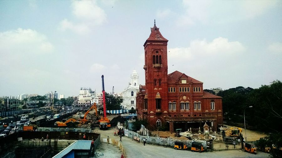Travel Destinations Architecture Built Structure Sky Outdoors Nature Chennai Central Rippon Building Colonial Architecture Neighborhood Map