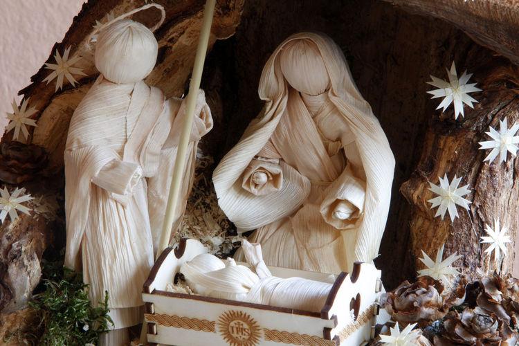 Nativity Scene Decoration During Christmas