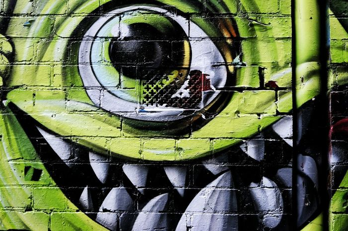 Melbourne Street Art Victoria, Australia I Love Colour Australia Wall Art Pixar  Disney / Pixar Monstersinc Monsters University