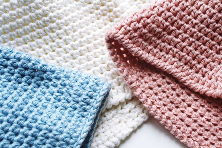 Close-up of woolen fabrics
