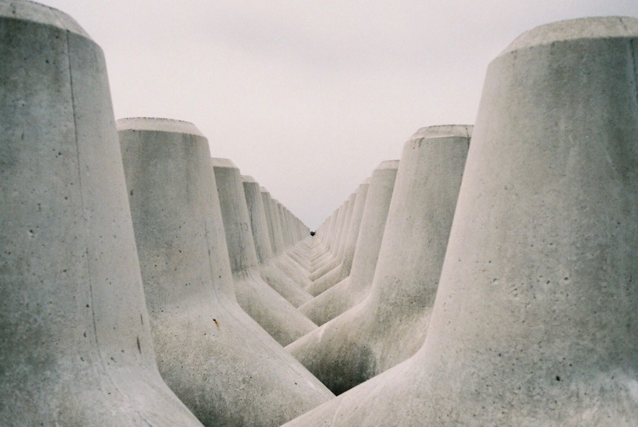 View of concrete wave breakers