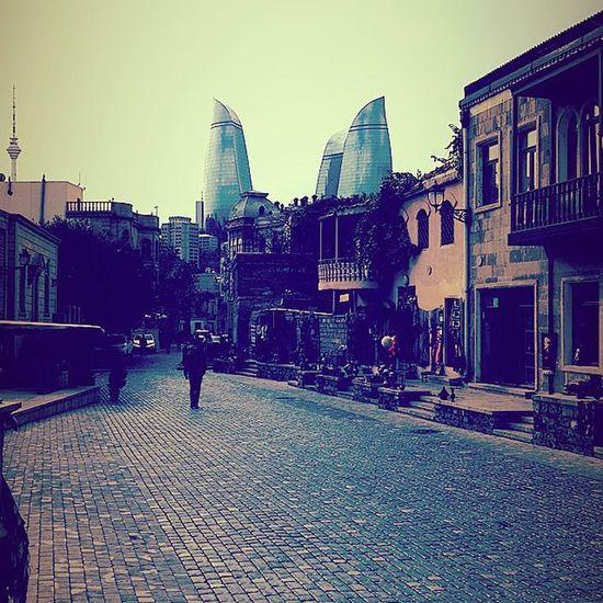 Baku2015 Flametowers İçerişeher Oldcity