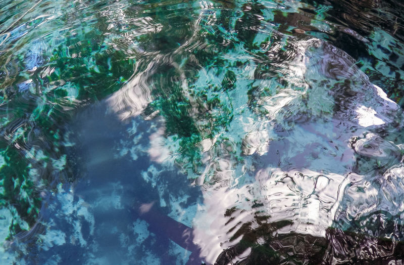 High angle view of rippled sea water