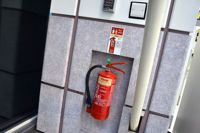 Close-up Danger Day Fire Alarm Fire Extinguisher No People Outdoors Red Red Red Collection Red Color Red Color Is Powerfull Red Colors Red Colour Safety