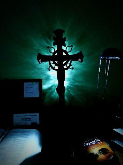 Evangelism Evangelion Jesus Christ Redemption Indoors  Cross Night