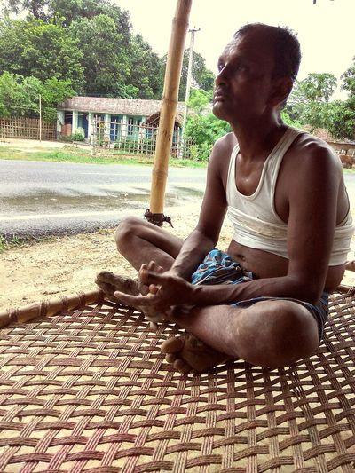 Madhubani, India, bihar, rural, adult male, rural attire,, lazy day, summer days