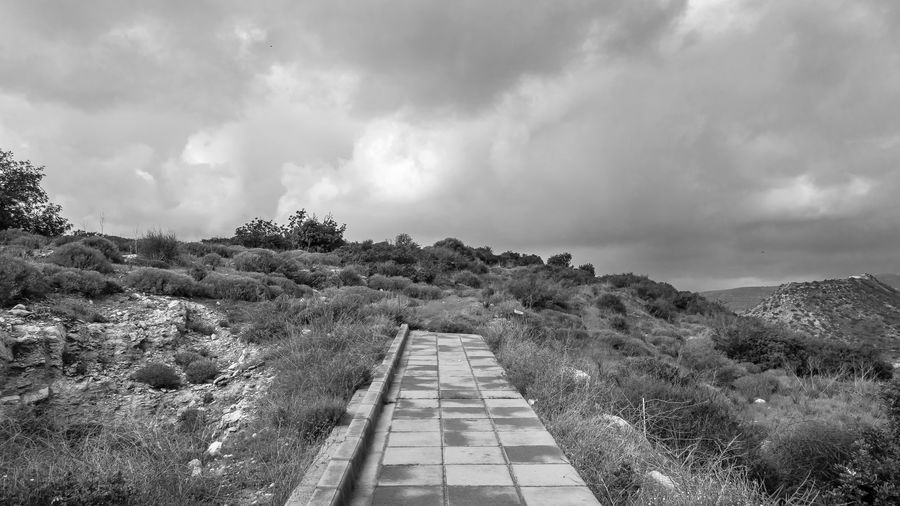 Cloud - Sky Sky Direction Plant Nature The Way Forward Environment Day Landscape Overcast No People Scenics - Nature Beauty In Nature Tranquil Scene Non-urban Scene Outdoors Mountain Tranquility Tree Diminishing Perspective Long EyeEm Best Shots EyeEm Nature Lover Ladnscape Blackandwhite