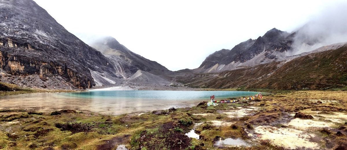 Mountain Landscape Lake Hiking Beauty In Nature Vacations Outdoors Snow Panorama Travel Colour Of Life IPhoneography See The World Through My Eyes Hello World Lonelyplanet Nature Beauty In Nature Religion China Sichuan Tibetan