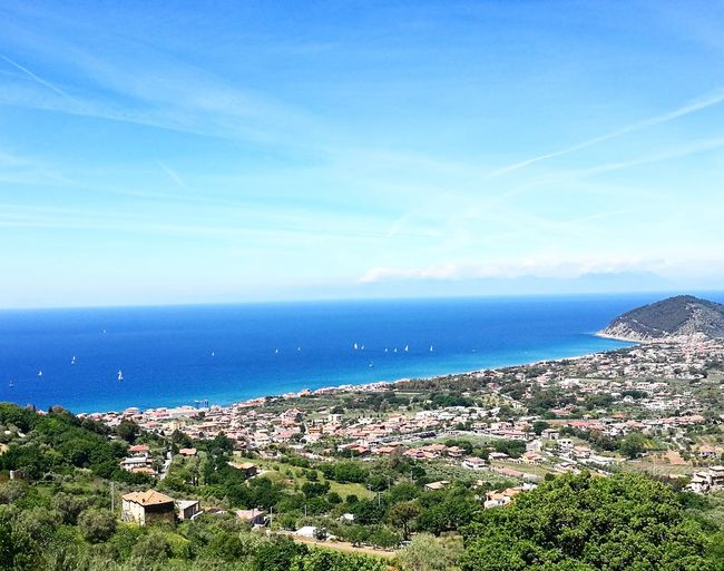 Sea Horizon Over Water Beach Water Landscape Scenics Outdoors Clear Sky No People Blue Nature Day Sky Beauty In Nature Vacations Santamariadicastellabate Benvenutialsud Cilento Castellabate Beauty In Nature Nature