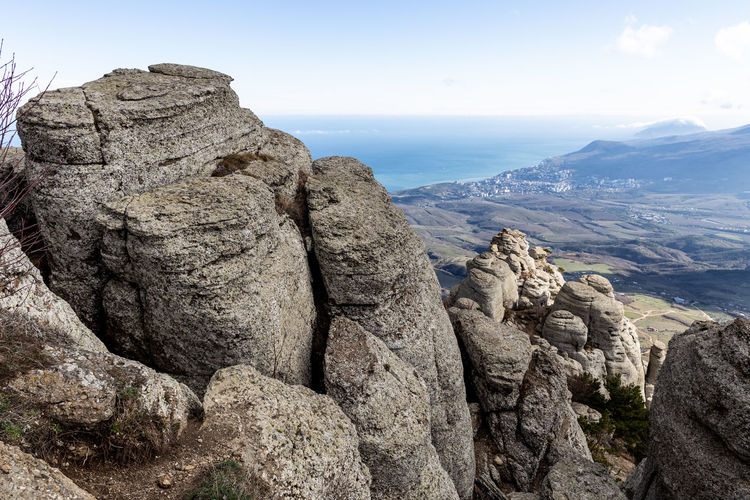 Rock Mountain Rock - Object Solid Sky Rock Formation Beauty In Nature Tranquility Tranquil Scene Scenics - Nature Mountain Range Nature No People Non-urban Scene Day Environment Landscape Geology Physical Geography Idyllic Formation Outdoors Eroded Mountain Peak