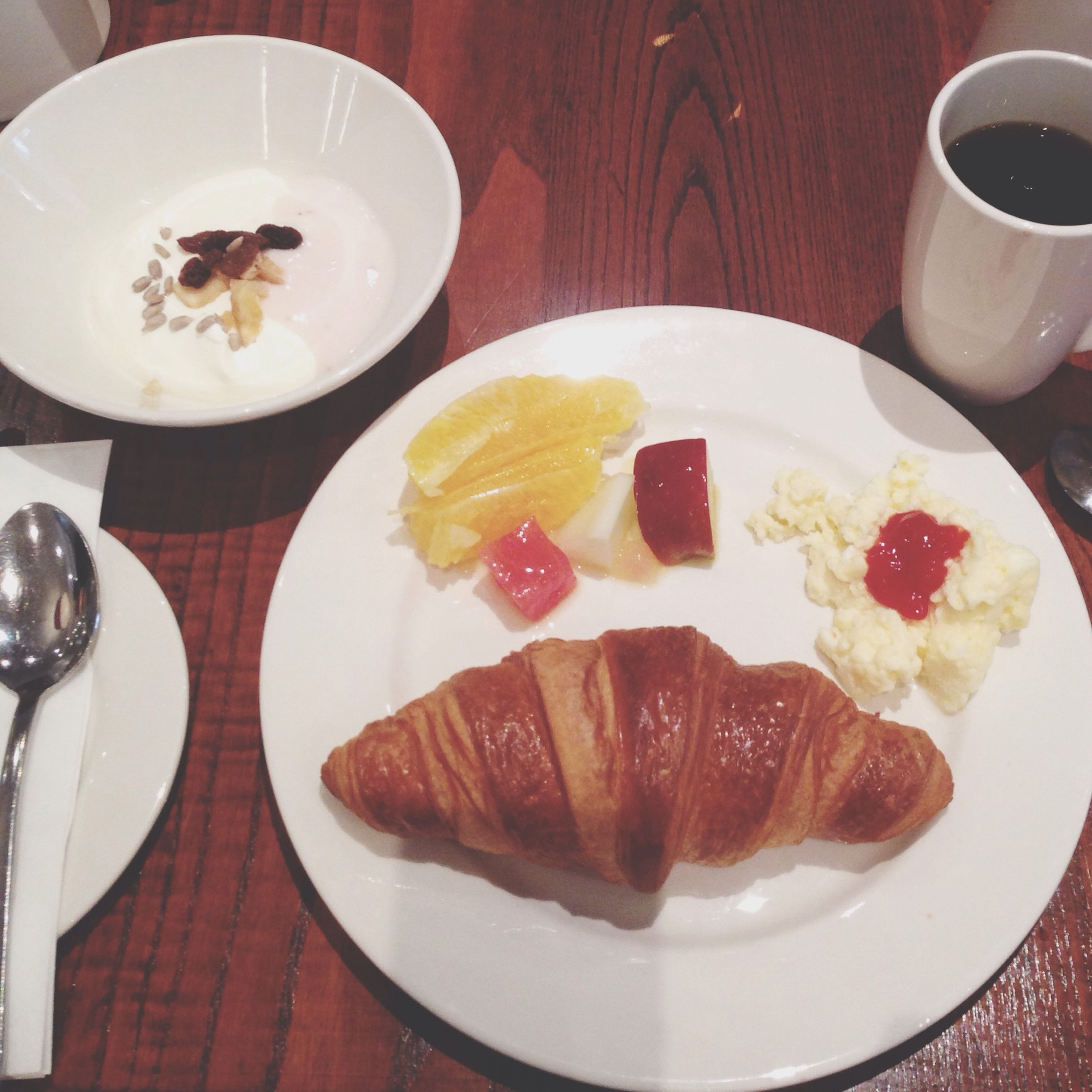 food and drink, food, freshness, ready-to-eat, indoors, plate, sweet food, table, still life, indulgence, serving size, dessert, unhealthy eating, breakfast, temptation, high angle view, meal, served, fork, cake