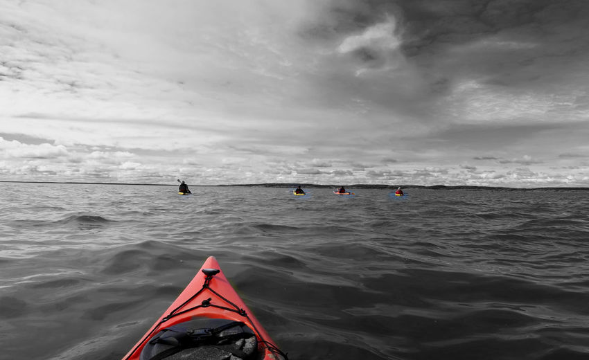 Sea kayaks in the hudson bay