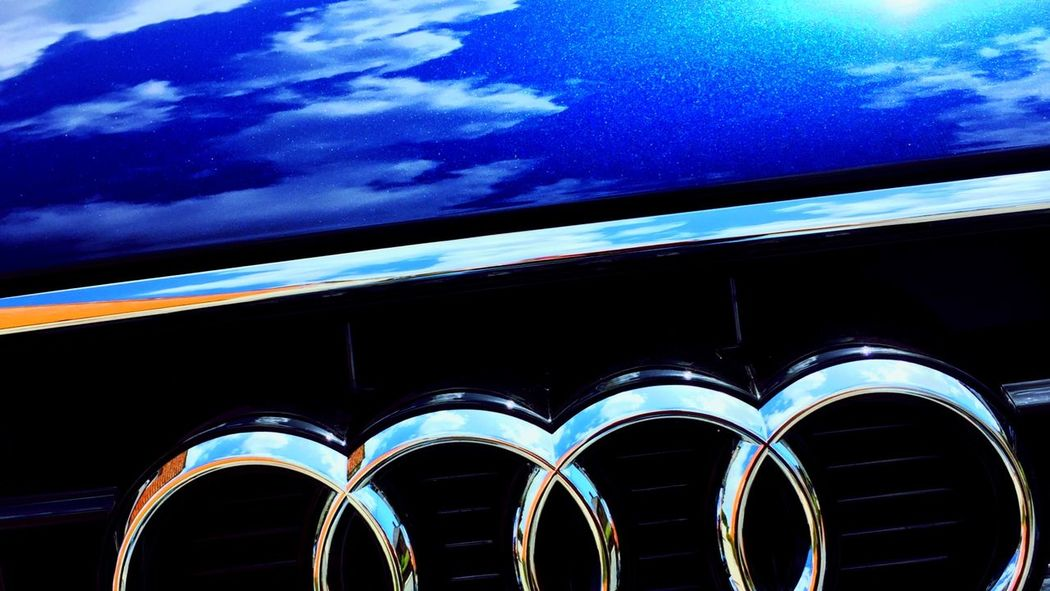 Audi Car Blue Sky Mirror Shine Mirorless Ontheroad On The Road Up Close Street Photography
