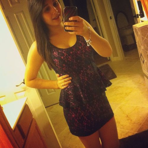New dress .. Not really my style, but it's good for a change .(: