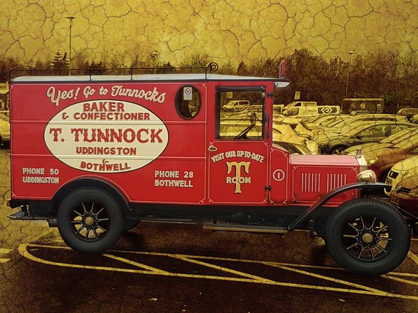 When old meets new. Famous caramel wafers. Scotland Cars Vans Automobile Historic Automotive Delivery Van