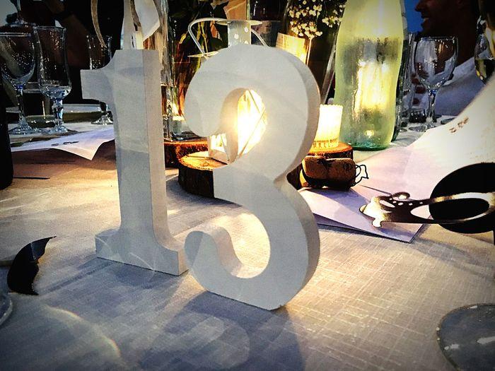 13 Thirteen My Number Wedding Party Chabbychic Summer Garden White Shadows & Lights