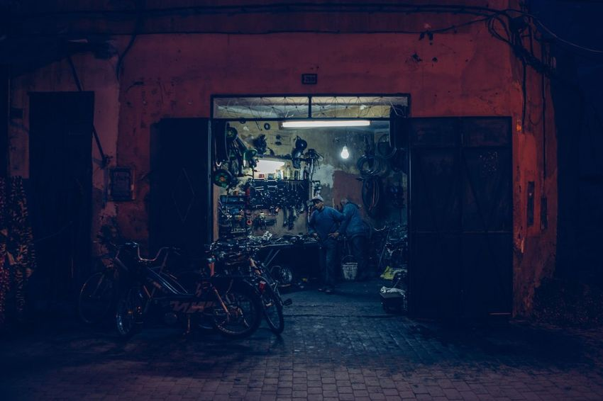 Marrakesch Nightphotography Night House People Streetphotography Street EyeEm Best Shots Dark Colors Light And Shadow Light House City Marrakech Maroc Marokko Architecture Built Structure Transportation Building Exterior Building Bicycle Street Night Motorcycle City HUAWEI Photo Award: After Dark