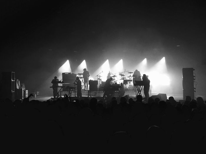 Watching Hot Chip performing at Brixton Academy. Awesome Performance Concert Music Dancing Live Music Black And White Brixton Academy Hot Chip Gig