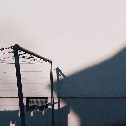 Hinterhof. Smart Simplicity Light And Shadow Backyard Hallschlag