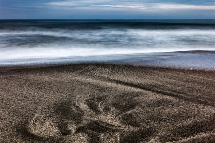 Dinosaur FootPrint Beach Horizon Horizon Over Water Landscape Magic Light Nature Primordial Sand Sea Sky Wave