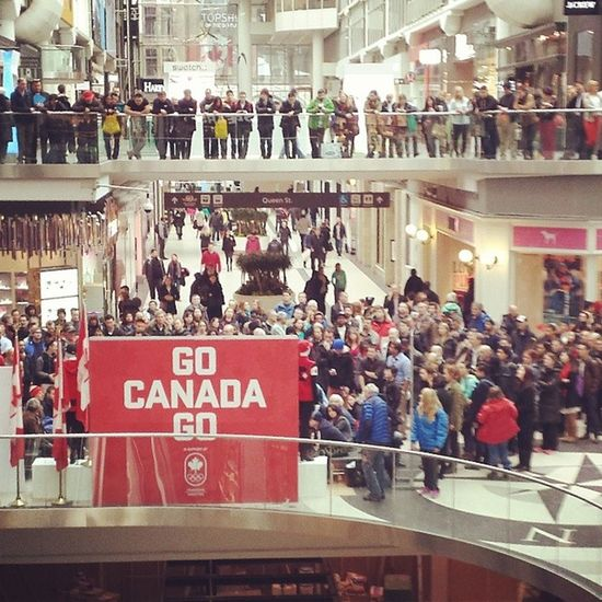Canadians watching the Winter Olympics Canadianpride