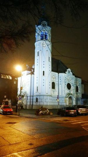 Blue Church Bratislava Winter In The City Eveningwalks