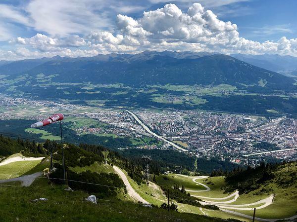 View from Seegruben over Innsbruck Mountain Sky