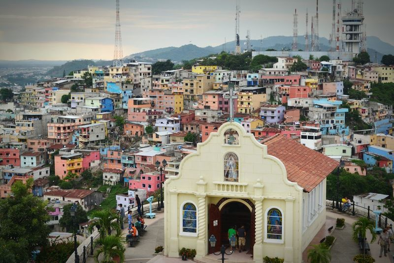 The City Light Architecture City Cityscape Building Exterior Travel Destinations Travel Business Finance And Industry Town Tourism Tower House Residential Building Built Structure Façade No People Community Ecuador Nature Photography